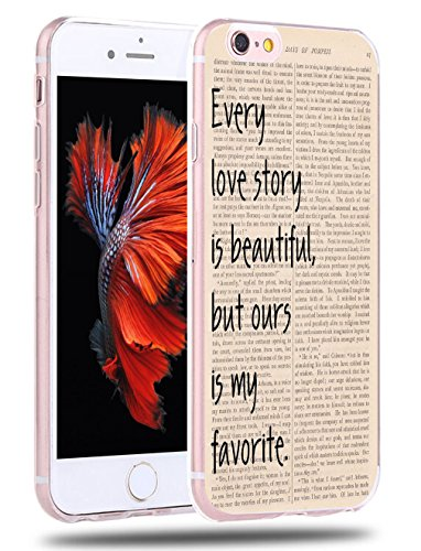 Case for iPhone 6S Words About Love  CCLOT Flexible Cover Protector Compatible for iPhone 6/6S Vintage Design TPU Protective Silicone Bumper Skin