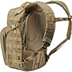 5.11 Tactical Military Backpack - RUSH12 - Molle Bag Rucksack Pack, 24 Liter Small, Style 56892 10 Military backpack features 16 individual compartments, MOLLE ready with roomy main storage area and hydration pocket. Adjustable height sternum strap, two external compression straps and contoured yoke shoulder strap system. The 5.11 RUSH12 Bug out Rucksack is a water-resistant backpack made with durable 1050D nylon (Multicar: 1000D nylon) and self-repairing YKK zippers. This military style tactical pack is built to last. Molle bag features wrap-around molle/5. 11 slick stick web platform, internal multi-slot admin compartment and zippered fleece-lined eyewear pocket. Compatible with 5.11's TIER system and the Rush Tier Rifle Sleeve.