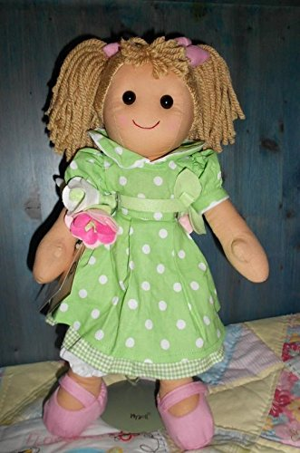 Bambola My Doll vestito pois bianchi con cintola di rose 42CM Eco Srl