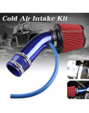 RYANSTAR RACING Cold Air Intake Pipe, 76mm 3 Inch Universal Percompatible withmance Car Cold Air Intake Turbo Filter Aluminum Automotive Air Filter Induction Flow Hose Pipe Kit (Blue)