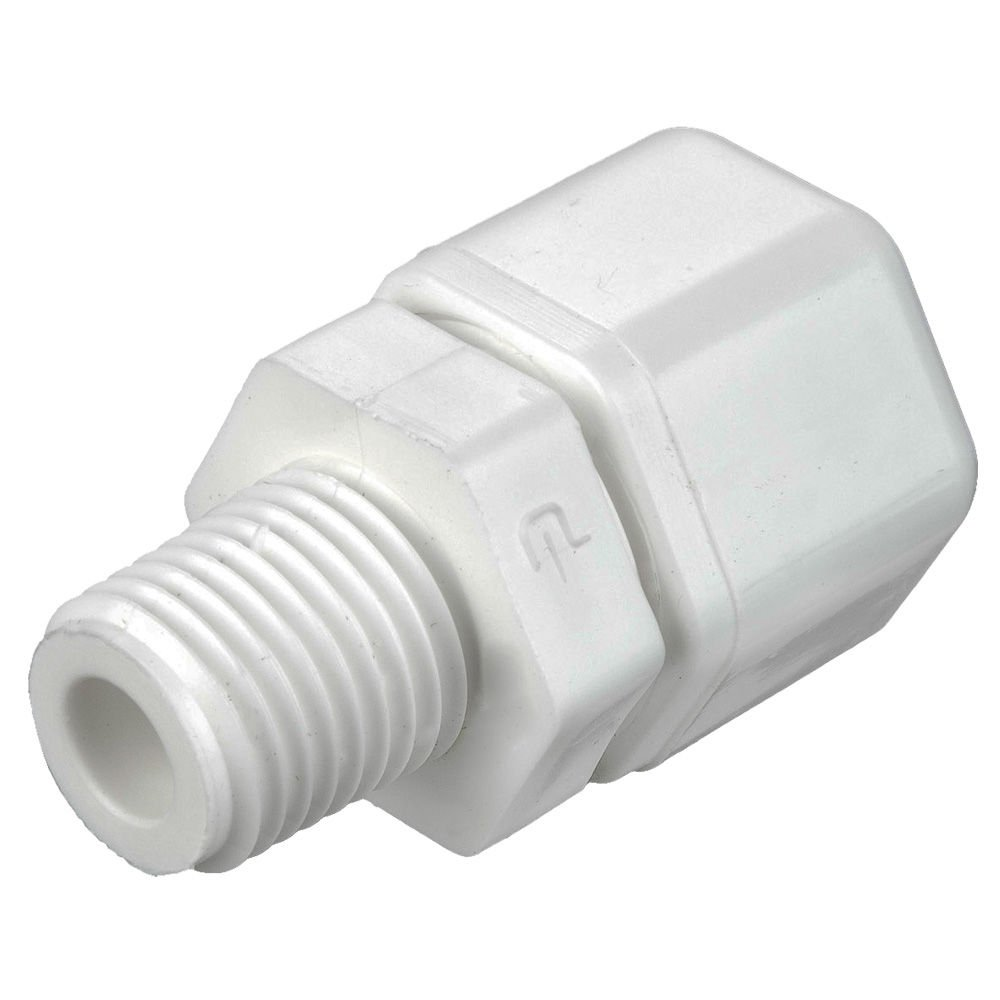 Tube to Pipe Pack of 20 Parker W4MC2-pk20 Compression Style Plastic Fitting Fast-Tite White Polypropylene 1//4 and 1//8 Compression and NPTF Connector Pack of 20 1//4 and 1//8