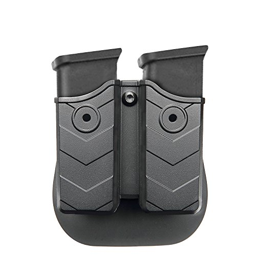 - efluky Double Magazine Pouch - 9mm/.40 Cal Magazine Holster Double Stack Magazine Holder with Paddle for Glock/H&K/S&W/Ruger/Sig Sauer/Springfield/Taurus/Beretta/CZ/Walther and More