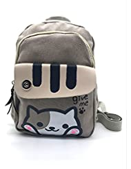 Maggift Cute Cat School Backpack Single Daypack Shoulders Bag Knapsack for Girls