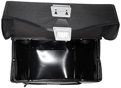 Haberland Fahrradtasche Einzeltasche M Außentschwarz Twist-Schienen-Befestigung, Schwarz, 32 x 34 x 16 cm, 16 Liter, TET122 15