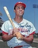Tony Perez signed Cincinnati Reds 11x14 Photo HOF 2000 minor dings (bat on shoulder) - Autographed MLB Photos