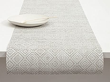 Chilewich Mosaic Table Runner Grey 14u0026quot; ...