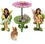 Pretmanns Fairy Garden Accessories – Kit with Miniature Fairy Garden Fairies – 9 Piece Figurine & Furniture Set – Fairy Garden Supplies