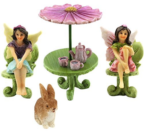 Fairy Garden Accessories – 9 Piece Figurine & Furniture Set – Fairy Garden Supplies