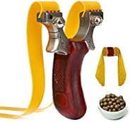 Pocket Sling Shot Bow Catapult Hunting Stainless Steel Aiming Point Slingshot