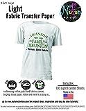 NuFun Activities Inkjet Printable Iron-On Heat Transfer Paper, Light Fabrics, (100 Sheets)