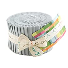 Bella Solids Zen Grey Jr Jelly Roll (9900JJR 185) by Moda House Designer for Moda by MoDA