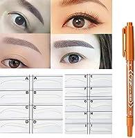 Stencil Microblading para cejas, modelos de plantillas Maquillaje ...