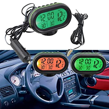 Neu Auto KFZ Digital Uhr LCD Thermometer Spannungstester Voltmeter Multifunktion