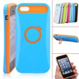 Protective Plastic & Silicon Case Cover With Nightglow for iPhone 5 - Optional Colors