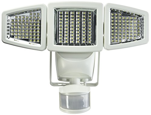 Sunforce 82183 - 180 LED Solar Motion Light, triple head, 1200 Lumens Peace Motion Lamp
