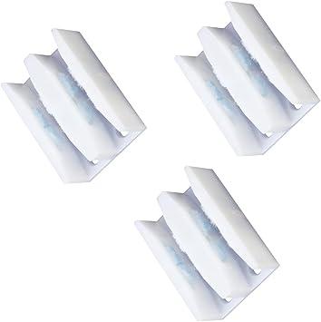 3 Piezas Paneles Para Puertas Corredizas Guía Inferior ABS Ducha Puerta Jamba Guía Color Blanco Para El Del Polvo: Amazon.es: Bricolaje y herramientas