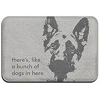 """Bunch Of German Shepherd Dogs Super Absorbent Anti-Slip Mat,Funny Doormat,Indoor/Outdoor Decor Rug Doormat 23.6""""x15.7"""",L x W Inch Non-Slip Home Decor"""