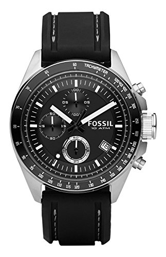 79aeba30b8c5 Aeropost.com Colombia - Fossil Mens CH2573 Decker Stainless Steel  Chronograph Watch With Black Silicon Band