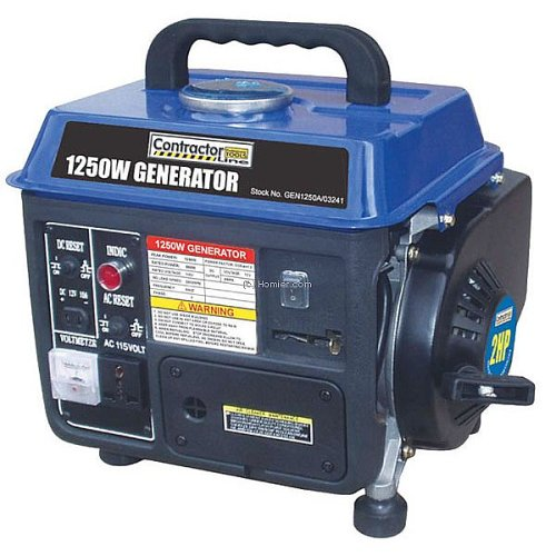 Blue Max GEN1250 1,250 Watt 2 HP 2-Cycle Gas-Powered Generator (Diesel Powered Generator)