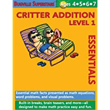 Math Superstars Addition Level 1 (Essential Math Facts for Ages 4 - 7) (Bugville Learning Adventures)