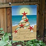 "Personalized Tropical Christmas Double Sided Garden Flag,12 1/2"" w x 18"" h, All-Weather Review"