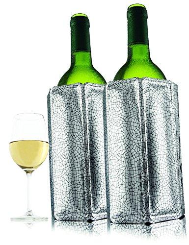 Vacu Vin Active Wine Cooler Silver, Set of 4 (Hello Kitty Wine Gift Basket)