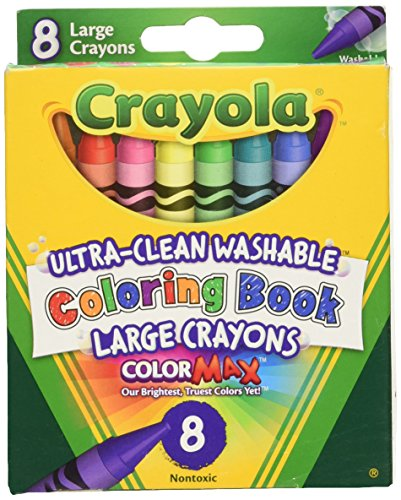 Crayola 52-3980 Coloring Book Washable Crayons-8/Pkg