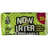 Now and Later Pineapple Flavored Candy Twenty Four 6-piece .93 oz Bars
