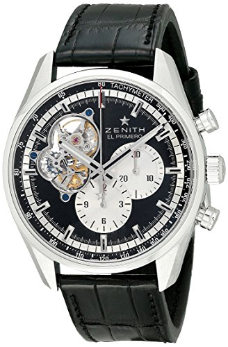 Zenith Men's 0320424061.21C El Primero Chronomaster 1969 Analog Display Swiss Automatic Black Watch