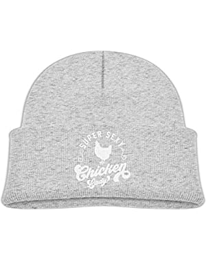 Fashion Chicken Whisperer Printed Toddlers Baby Winter Hat Beanie