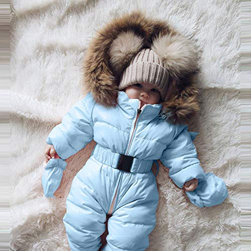 8369994cd666 Franterd Baby Girls Boys Romper Down Jacket Hooded Jumpsuit Autumn   Winter  Warm Thick Coat Onesie