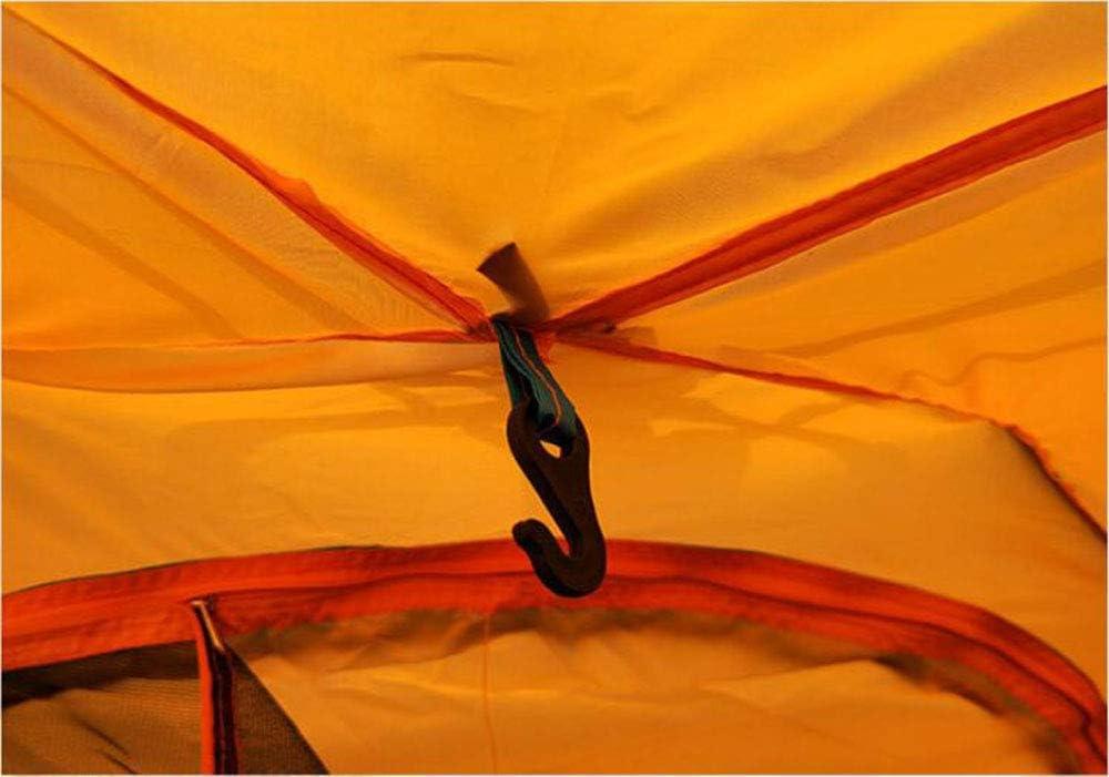 CNAJOI-TDFY - Tienda de campaña doble automática portátil para exteriores naranja