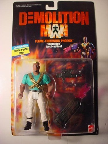 Wesley Snipes as Flame-Throwing Phoenix Action Figure The Movie Mattel Inc 11112-0910 Demolition Man