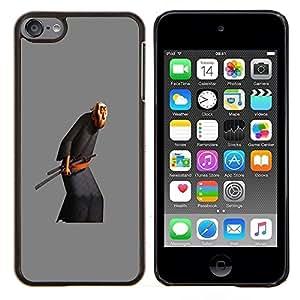Viejo Artes Marciales Espada- Metal de aluminio y de plástico duro Caja del teléfono - Negro - iPod Touch 6