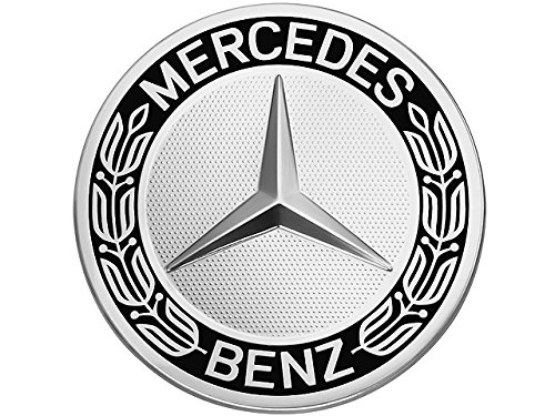 Mercedes-Benz Black Classic Logo Wheel Center Cap, Genuine MB Parts