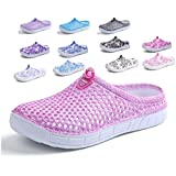 Peregrine Women's Mesh Breathable Sandal Quick-Drying Slippers Beach Slippers Non-Slip Garden Sandals Clog Mules Shoes Pink 39