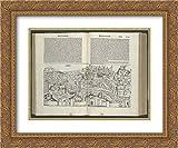 Hartmann Schedel 36x28 Gold Ornate Frame and Double Matted Museum Art Print Liber chronicarum Registrum huius operis libri cronicarum Cum figuris et ymagibus ab inicio Mundi