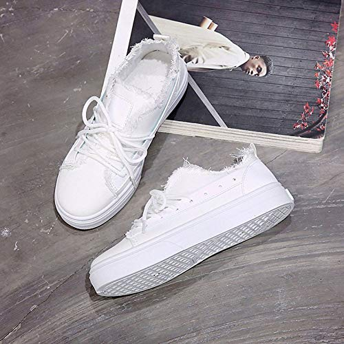 Flat Heel Shoes Fall Women's Black Polyurethane Sneakers ZHZNVX Casual Comfort White PU Black wXqnz8