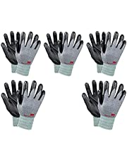 3M Comfortable Grip Nitrile Foam Coated Gardening Work Gloves Green (5pk)