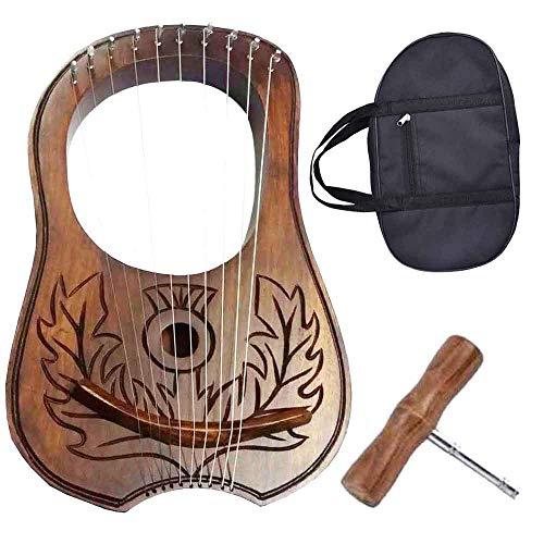 Traditional Irish Lyre Harp 10 Metal String Free String Set Various Designs/Lyre Harfe/Arpa/Lyra Harp (Thistle Knot)
