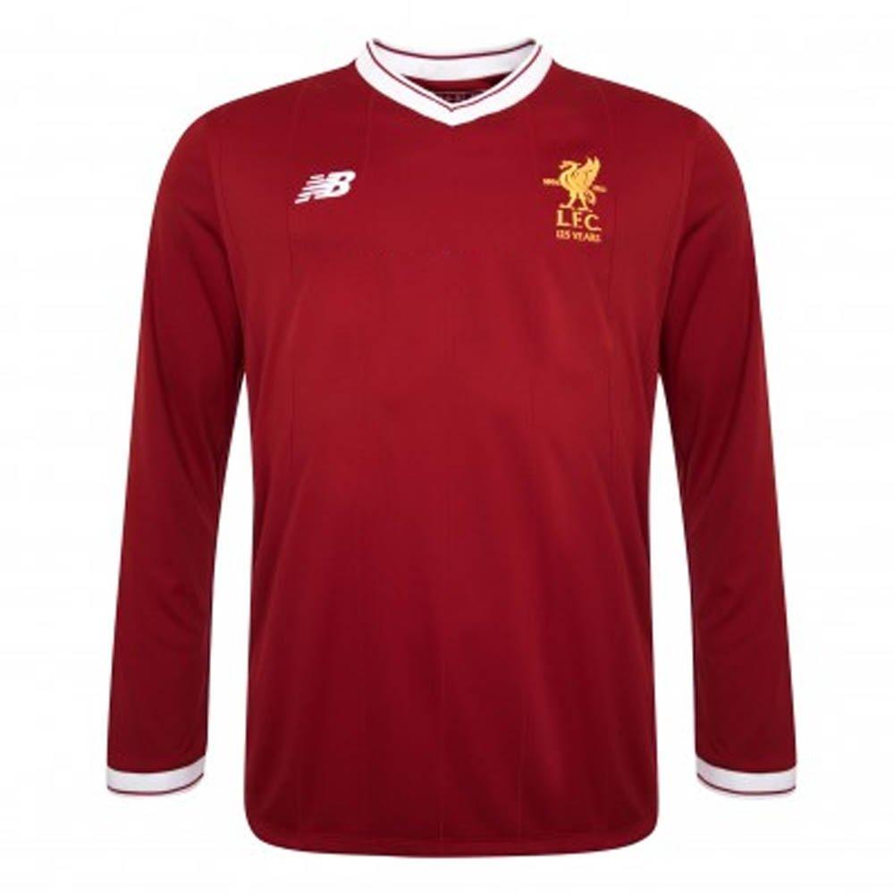 2017-2018 Liverpool Home Long Sleeve Shirt (Kids) B076CF76Z4Red Small 35-37\