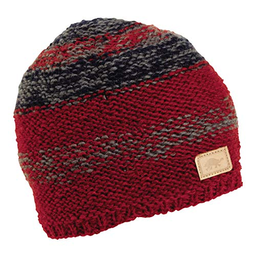 Turtle Fur Jackson Nepal Artisan Hand Knit Men's Wool Beanie Red ()