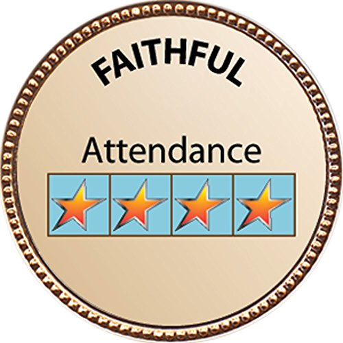 [Faithful (Attendance) Award, 1 inch dia Gold Pin