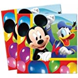 20 serviettes papier Mickey Party Time™