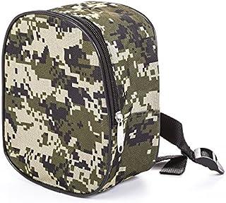TENGGO Oxford Tissu Camo Noir Portable Sac De Pêche Accessoires Taille Extérieure Sac Rangement Pochette-Camouflage