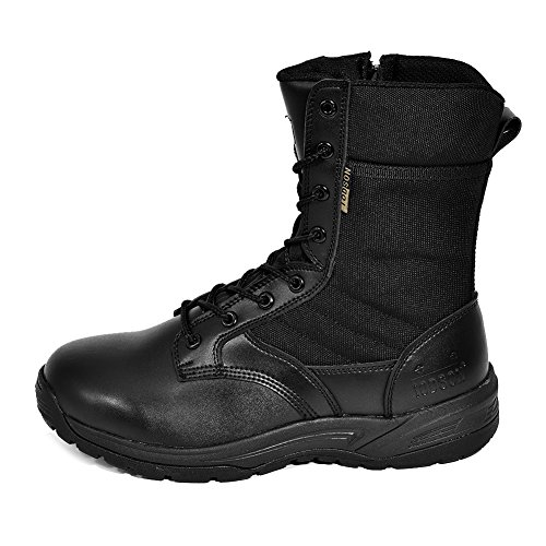IODSON US New Military Athletic Tactical Comfort Leather Boots Mens' Ultra-Light Combat Boots Waterproof IDS-832