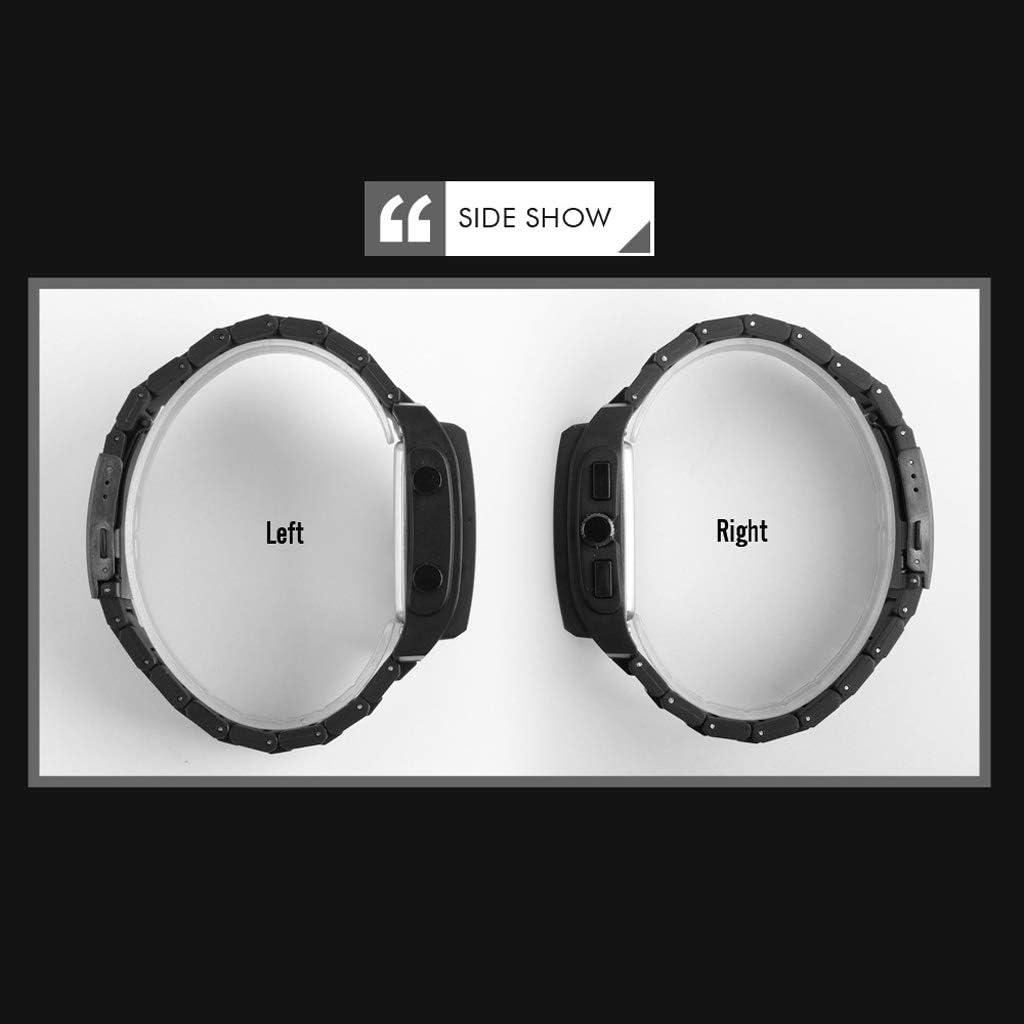 Orologio Elettronico 1 Pc Multifunzione Digitale Sportivo, Impermeabile Esterno Facile da Leggere Retroilluminato Militare Uomini Casual Multicolore Casuale Black
