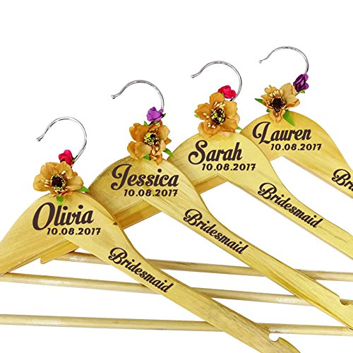 Bridesmaid Wood Hanger Personalized Name Wedding Hanger Bridesmaid Wedding Gift