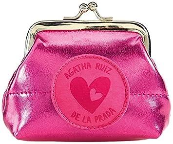 Agatha Ruiz de la Prada Agatha Ruiz De La Prada 16769 - Portamonedas Metalizado, Color Fucsia Monedero: Amazon.es: Equipaje