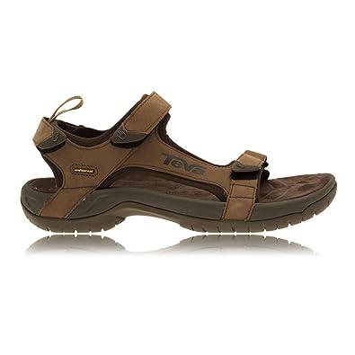 d5dc3b122338 Teva Men s M Tanza Leather Open Toe Sandals  Amazon.co.uk  Shoes   Bags